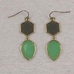 BaubleBar Green and Grey Earrings